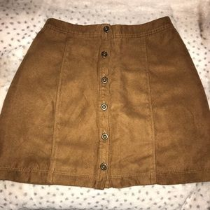 Hollister suede skirt- Never worn.